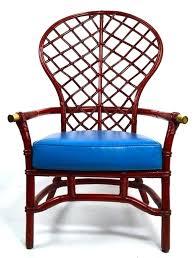 D Modern Wicker Chair Blue Mid Century High Fan Back  Woven By