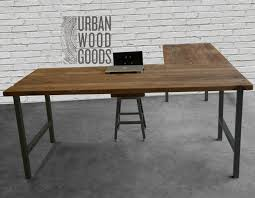 contemporary wood office furniture. Stylish Rustic L Shaped Desk Within Reclaimed Wood Office Furniture Modern Custom Contemporary