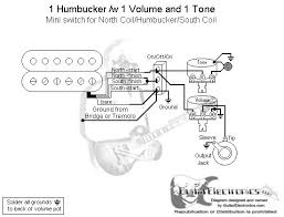 humbucker volume tone wiring diagram image 1 humbucker 1 volume 1 tone north coil humbucker south coil on 1 humbucker 1 volume