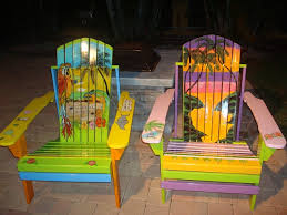 tropical painted furniture. adirondack chairs hand painted tropical furniture a