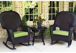 entranching black wicker outdoor furniture of rocking chairs home design ideas