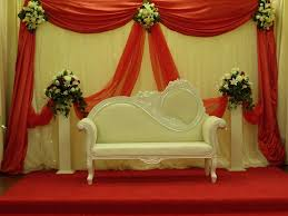 modern wedding decor stage wedding reception decorations with red and white curtains also s
