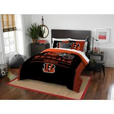 bengals 3 piece draft multi full queen comforter set