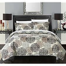 Amazon.com: Chic Home 3 Piece Kelsie Boho Inspired Reversible ... & Chic Home 1 Piece Judith Boho Inspired Reversible Print Quilt Set, Queen,  Beige Adamdwight.com