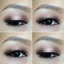 rose gold smokey eyes using urban decay s 3 palette face and beauty s makeup eye makeup and gold smokey eye
