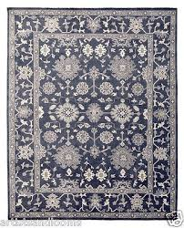 restoration hardware ayara persian hand knotted blue rug 10x14 wool 6995 msrp