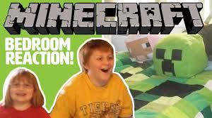 Minecraft Kids Bedroom Minecraft Bedroom Surprise Makeover Our Kids React Youtube