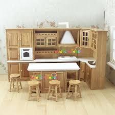 dollhouse furniture 1 12 scale. Simple Dollhouse 1 12 Scale Dollhouse Furniture Doll House Kitchen Wooden Toys  Cabinet Range Hood Sink Set And Dollhouse Furniture Scale O