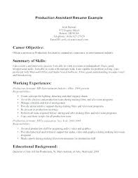 Film Production Resume Template Adorable Sample Resume For Entertainment Industry Cover Letter Entertainment