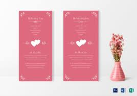 Simple Wedding Invitation Card Design Template In Word Psd Publisher