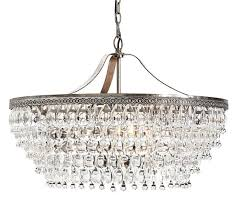 clarissa crystal drop round chandelier pottery barn intended for awesome property crystal drop chandelier designs