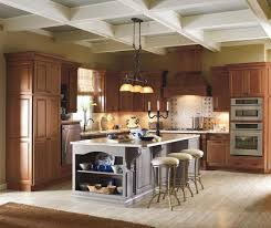 painted kitchen islandsCherry Cabinets with Painted Kitchen Island  Kemper
