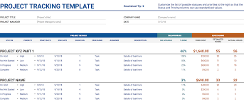 Free Project Tracking Templates 11 Of The Best Free Google Sheets Templates For 2019