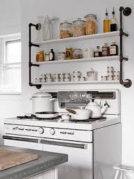 Industrial Kitchen Shelf Simple Kitchen Shelves Home Design Ideas