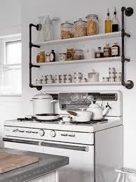 Industrial Kitchen Shelf Simple Kitchen Shelves Home Design Ideas