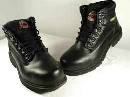 Designer Steel Toe Boots Brahma Designer Mens Steel Toe Leather Black Lace Up Work