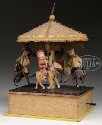 Vintage toy carousel ride