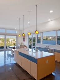modern kitchen floor kitchen island mini pendant lights polished concrete