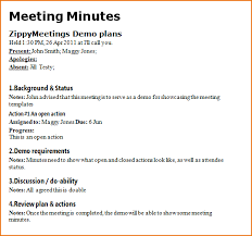 sample of minutes taken at a meeting 4 meeting notes format teknoswitch