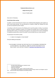 Employee Warning Letters Template Sample Warning Letter To Employee Template Final Allegation Letter