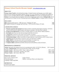 School Teacher Resume Sample Magnificent 48 Basic Teacher Resume Templates PDF DOC Free Premium Templates