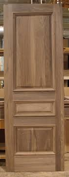 3 panel wood interior doors. Solid Walnut Door, 3 Panel With Raised Panels And Applied Moulding. Wood Interior Doors Pinterest
