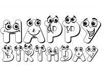 Happy Birthday Kleurplaat 3 Happy Birthday World 100 100 Happy