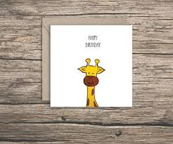 Funny Birthday Card Printables Printable Birthday Cards Giraffe Download Them Or Print