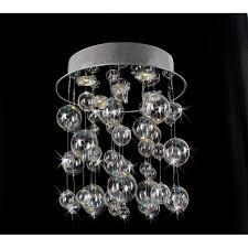 glass bubble chandelier lighting. Chrome Ceiling Mount Chandelier With Hand Blown Bubble Glasses - Amazon.com Glass Lighting