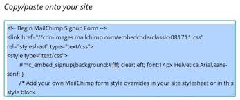 email list signup form add a signup form to your website mailchimp