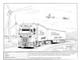 Kleurplaten Vrachtauto Scania
