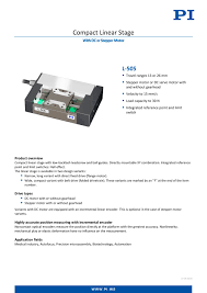pact linear se with dc or stepper motor l 505 8 pages