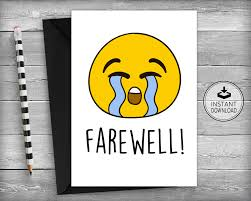 printable goodbye cards 14 farewell card designs and examples