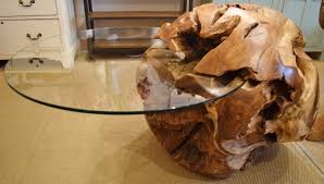 Teak And Glass Coffee Table Decoration Tree Stumps On Pinterest Tree Trunk Coffee Table Glass