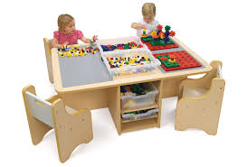 quad activity table with storage the lego