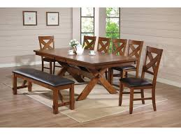 Apollo Standard Height Dining Set With Trestle Table And Mixed Seating By Acme Furniture At Del Sol Furniture