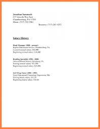 6 Resume With Salary History Salary Slip
