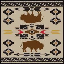 native american buffalo fabric print