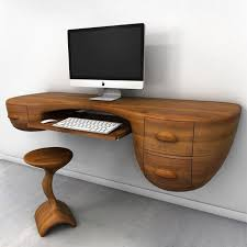 creative wooden furniture. Creative Wood Desk With Apple Monitor On It Wooden Furniture 2