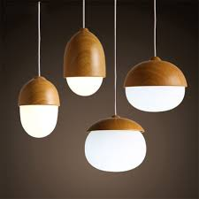 Contemporary Wood Pendant Light American Country Pendant Light Creative Wood Pendant Lamp