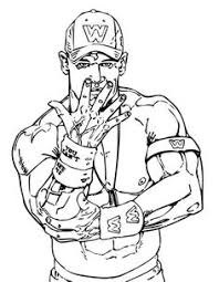 Small Picture Free Coloring Page Of WWE Wrestling Online Printable Sports