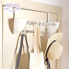 Door Hanging Coat Rack Double row door back hook door hanger hangers bathroom free hanging 19