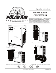 old generation rotary screw air compressor operating instructions rotary screw compressors operating instructions polar air designs and manufactures products for safe operation