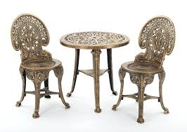 bistro table and chair set garden bistro set table chairs outdoor patio set antique bronze white