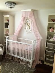 ... Canopy For Baby Crib Pink And Gray Nursery With Girl Home Design 1 ...