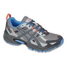 asics trail running shoes gel venture 5 women silver grey colour carbon dutch blu