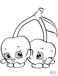 Cheeky Cherries Shopkin coloring page | Free Printable Coloring Pages