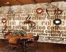 Us 190 50 Offfree Shipping Cafe Theme Vintage Retro Background Wall Painting Coffee Alphabet Restaurant Bakery Wallpaper Custom 3d Mural In