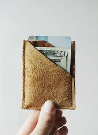 diy leather wallet themerrythought