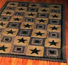 texas star rug runners area rugs barn patch rustic